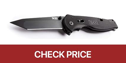 sog black tanto edc knife
